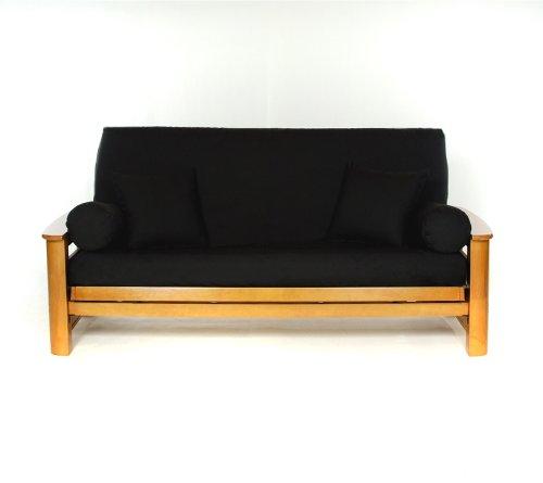 Imagen de Estilo de vida cubiertas negro tamaño completo futón Cover