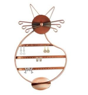 Cat Shape Copper Color Wire Earring Holder / Earring Tree / Earring Oraganizer / Earring Stand / Earring Display