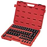 Sunex 3351 3/8-Inch Drive Metric Impact Socket Set, 51-Piece