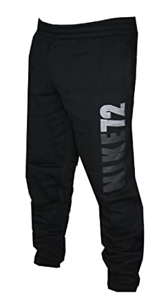 Nike 72 Mens Cuff Fleece Trousers Jogging Bottoms Grey & Black Track Pants