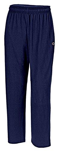 Hanes P7309 Mens Open Bottom Jersey Pants, Navy Blue - Medium
