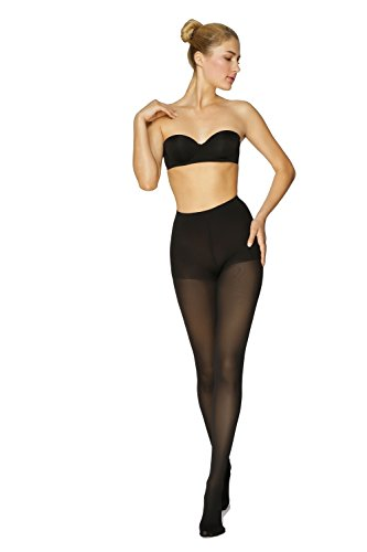 "®BeFit24 - Graduated Compression Pantyhose for Women (23-32 mmHg) - Medical Compression Tights - Made in Europe L (Height 1: 5'2"" - 5'7"" / 158 - 170 cm) Black"
