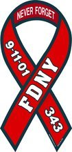 FDNY NEVER FORGET RIBBON MAGNET