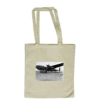 The veteran Lancaster bomber - Long Handled Shopping Bag