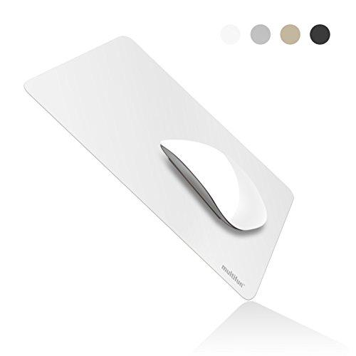 マンティファン multifun マウスパッド 薄い 無雑音 オフィスマン専用 mousepad ホワイト  (白い)