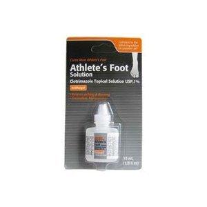 Clotrimazole, AF Antifungal AthleteS Foot Topical Solution 1 Percent (Generic Lotrimin) - 10 Ml