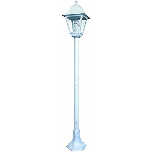 LAMPIONE LAMPIONI DA GIARDINO BIANCO BIANCHI PER ESTERNI IN ALLUMINIO 18x121H