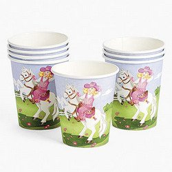 Pink Cowgirl 9Oz Cups (8 pieces) - Bulk