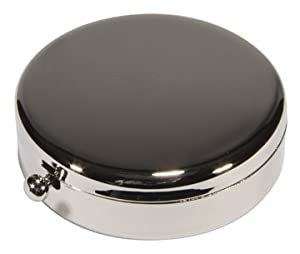 Kingsley Round Pill Box - Silver Plated