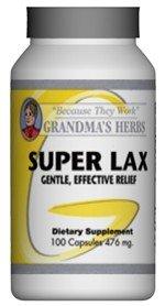 Super Lax - Natural Laxative - 100 Capsules