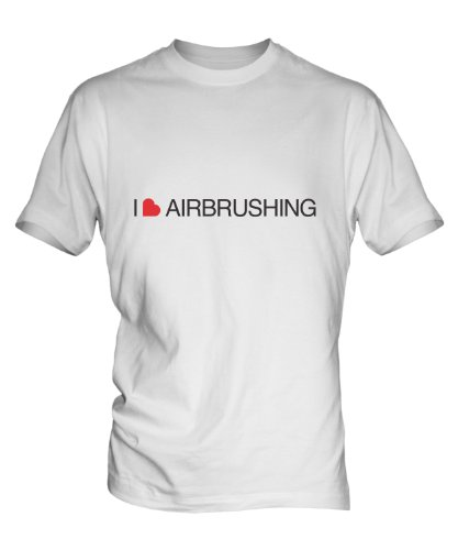 i-love-airbrushing-mens-white-tshirt-top-size-medium-colour-white