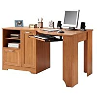 Realspace Magellan Collection Corner Desk (Honey Maple)