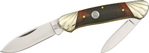 Rough Rider Knives 472 Canoe Pocket Knife With Brown Sawcut Bone Handles