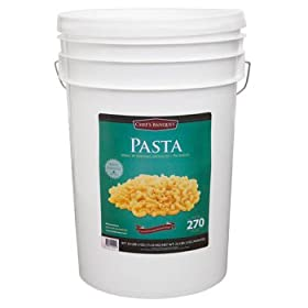 270 Total Servings of Macaroni Pasta Emergency Food Bucket By Chef