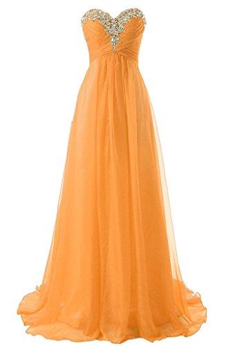 [JAEDEN Girl's Sweetheart Charming Formal Evening Dresses Long Prom Gown Light Orange US2] (Sweetheart Girl)
