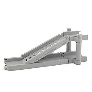 Bend A Path Toy Track Accessory- Elevator and Ramp Track Attachments- Fits ALL Bend A Path Track Vehicle Playsets