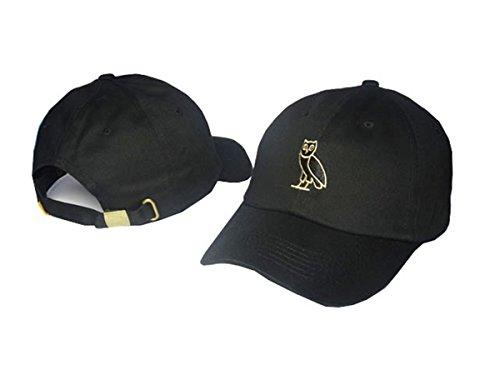 Drake ovo Unisex Cotton Hats Adjustable Peaked Cap Black 1 One Size