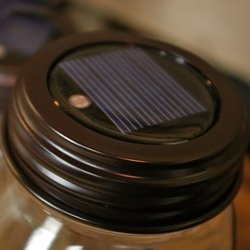Mason jar solar light lids