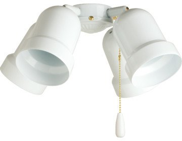 Ceiling Fan Bullet 4-Light Kit, White (2 Pack)