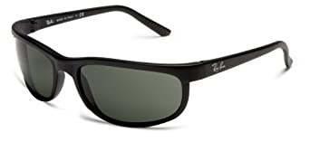 Ray-Ban Unisex RB2027 Predator 2 Sunglasses,Black Frame/Green Lens,62 mm