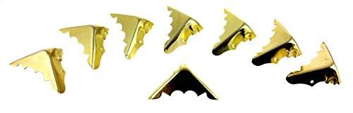 Decorative Box Corner Brass Plated : Pcs decorative brass plated box corners with mounting