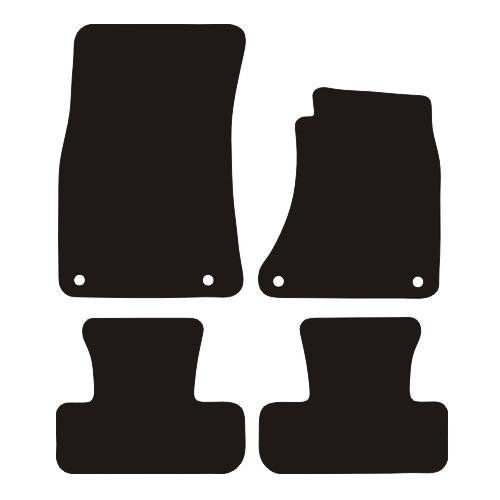 AUDI Q5 RUBBER CAR MATS 2008- (4 ROUND CLIPS)