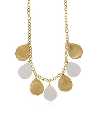 Bellavita Collar Gemstone Teardrop plata de ley 925 milésimas / Blanco