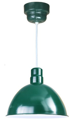 Anp Lighting D616-42-100Glfr-Gup-42-Rwhc-32Wpl-42 Forest Green Deep Bowl Rlm Spun Aluminum Deep Bowl Industrial Barn Light With Cord Outdoor Pendant Mount Hi Bay/Low Bay
