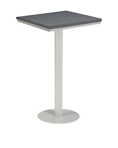 Oxford Garden Travira Square Bar Table, Powder Coated Aluminum/Alstone