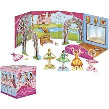 A Playhouse And Paper Doll Set In One - Peaceable Kingdom / Ballerinas In-A-Box Paper Doll Playset