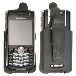 Black Holster Belt Clip Holder Home Wall ChargerFor Blackberry 8100 Pearl T-Mobile Cellular Phone Sold By TopDeals888