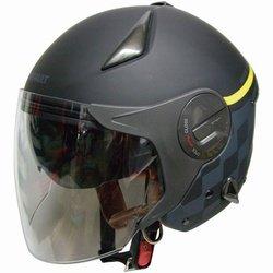 FS RN-999W ルノー Wシールドジェットヘルメット マットブラック 122071211