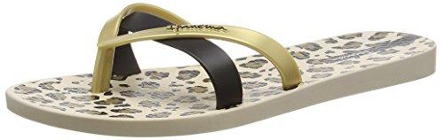 IpanemaKirei Silk FEM - Infradito Donna , Multicolore (Mehrfarbig (beige gold black 8420)), 38
