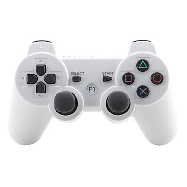 Rechargeable Bluetooth Wireless Doubleshock 3 Controller For Ps3 (Retail Box, White Colors)