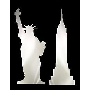 Lot de 2 miroirs adhésifs murals 'New York' - 09/0506 31OF9hGbbnL._SL500_AA300_