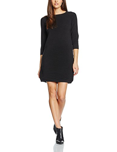 french-connection-damen-kleid-mozart-ripple-ls-rdnk-jmpr-drs-schwarz-black-1-34-herstellergrosse-8