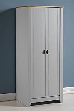 Ludlow 2puerta armario en gris/roble