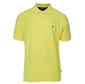 Nautica Men's Mesh Performance Deck Shirt Sunshine S