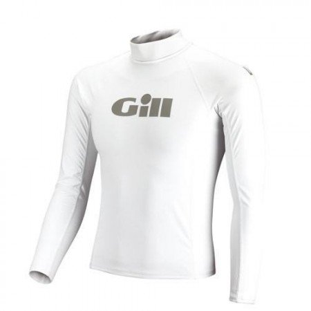Gill Mens Respect The Elements Long Sleeved Rash Vest in WHITE 4400 Sizes- - ExtraLarge