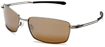 Oakley Men's Nanowire 4.0 Iridium Polarized Sunglasses,Light Frame/Tungsten Lens,one size