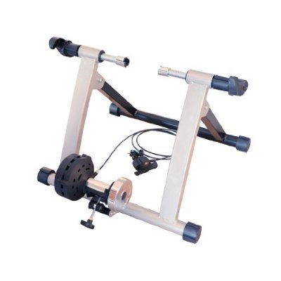 Soozier Adjustable Magnetic Resistance Indoor Exercise Bike Bicycle Trainer Stand - Silver