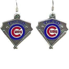 MLB Dangle Earrings - Chicago Cubs