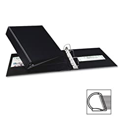 Binder, Slant Rings, 2 In, Black