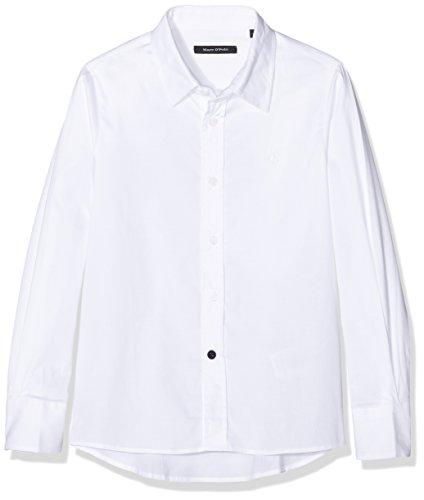 Marc O' Polo Kids Hemd 1/1 Arm, Camicia Bambino, Bianco (Bright White|White 1000), 12 Anni