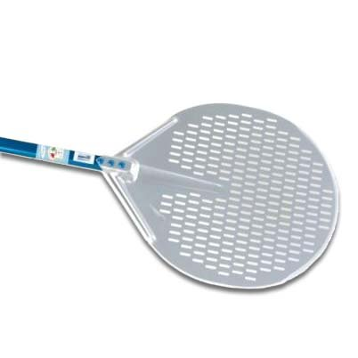 15-Inch Circular Perforated Pizza Peel - 20-Inch Handle