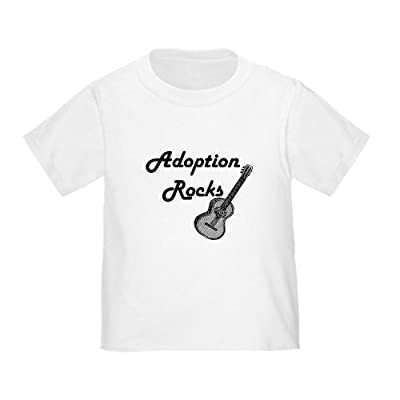 CafePress Toddler T-Shirt - Adoption Rocks with Guitar Toddler T-Shirt