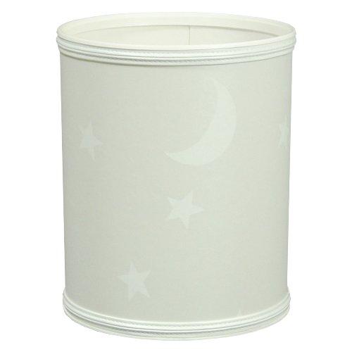 Redmon For Kids Stars And Moons Wastebasket, White - 1