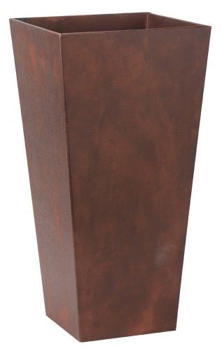 Novelty 35197 Ella Tall Planter, Teak, 19.5-Inch Tall