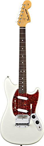 Fender Classic Series Mustang Electric Guitar, Rosewood Fretboard - Olympic White