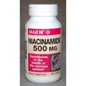 [3 Pack] Major® Niacinamide 500Mg 100Ct (Pack Of 3) Potency Guaranteed